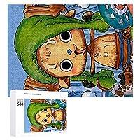 トニートニーチョッパー ジグソーパズル1000ピースdiyサホマルデイトワイライトバスケットプラティコドングランディフロラム新年ギフト誕生日絵画学生の子供たちおもちゃジグソーパズル創造的な思考のおもちゃでいっぱいの木製ジグソーパズル幼児アニメマンガギフトエンスキー壁の装飾無毒で無害なギフトクリスマスwhite-style1 500 PCS