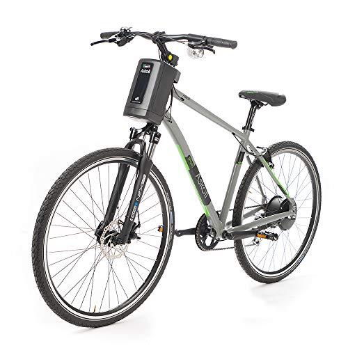 ASKOLL eB5, Bicycle. Unisex Adulto, Grigio Opaco/Nero Opaco, 71 cm