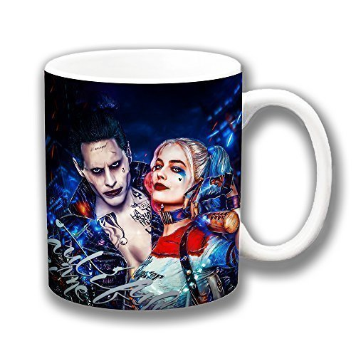 Cushions Corner Selbstmord Kader Film 'Harley Quinn & Joker' Kaffee Tasse Strumpf Füller