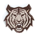 Tactical Military Morale Patch - Voted Best Quality Patches Perfect for Hats, Jackets, Backpacks, and More (Brown Tiger)