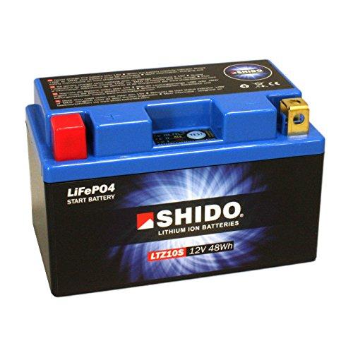 Motorrad Batterie Shido Lithium LTZ10S / YTZ10S, 12V/9,1AH (Maße: 150x87x93)