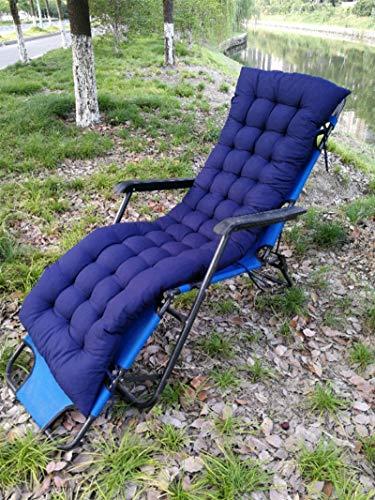 AINIYUE Cojines para mecedoras, Cojines para sillones, Almohadillas de Mimbre para engrosar, alargar, Cojines para Bancos sobre tapizados de Muebles de Patio Los 48X125cm Azul