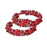 Ocathnon Women Bracelet,2 Packs, Valentine's Day, Womens Bracelet Stretch Zirconia Tennis Bracelets Multi Strands Elegance Romance Flexible Wristband Bangle