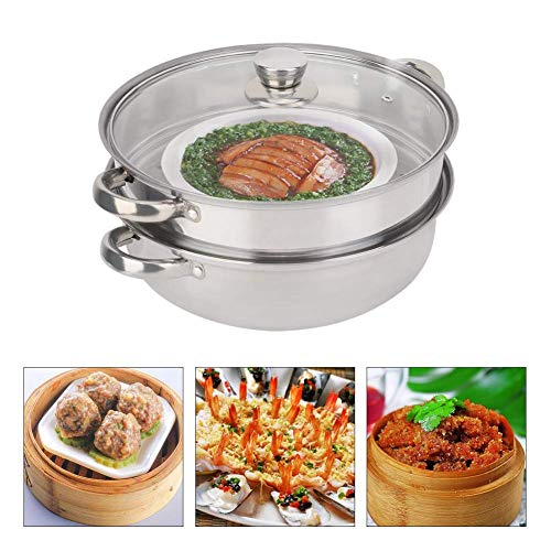 Garnek do gotowania na parze - Naczynia kuchenne ze stali nierdzewnej 27 cm / 11 in 2-warstwowa garnek do gotowania na parze z podwójnym kotłem
