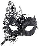 Venezianische Maske, Coofit Masquerade Maske Schmetterling Metall Maskenball Masken Venedig Maske...