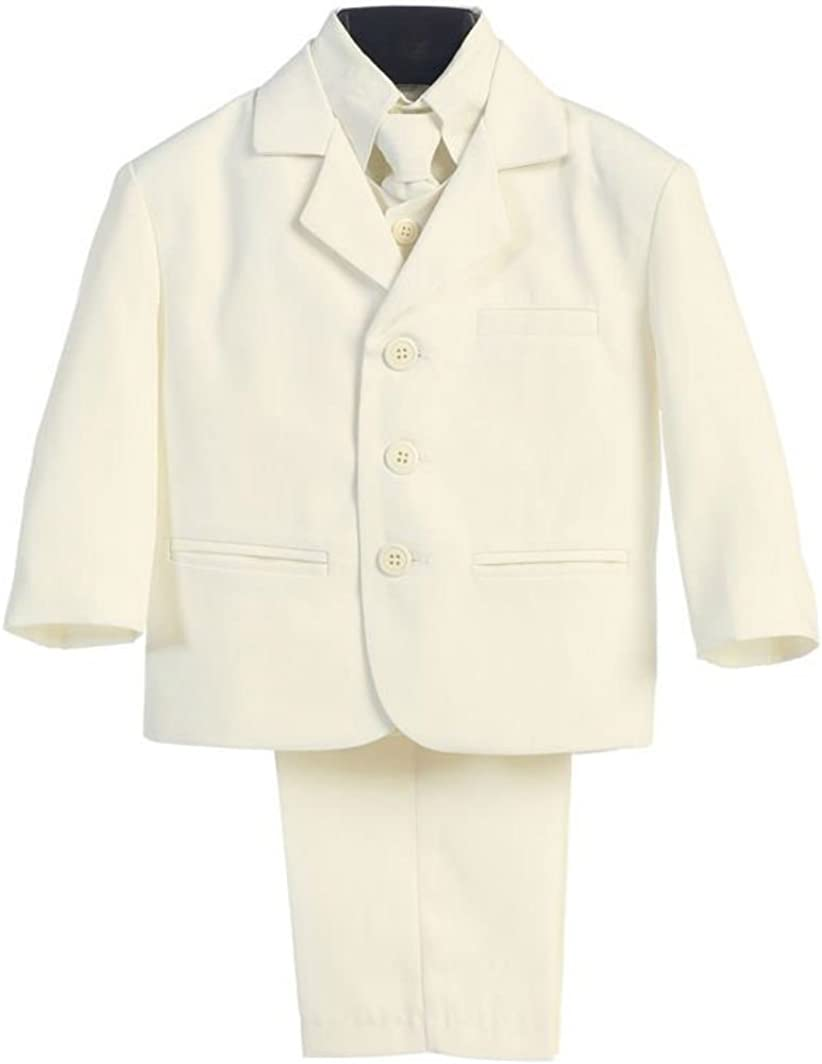 5 Piece Ivory Suit with Shirt, Vest, and Tie - Size