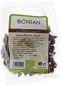 Bionsan Arándanos Rojos Ecológicos - 3 Bolsas de 100 gr - Total: 300 gr