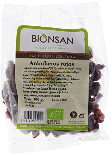 Bionsan Arándanos Rojos Ecológicos - 3 Bolsas de 100 gr -