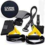 medical device technology suspension training kit + coppia dischi scivolo per allenamento completo a casa.