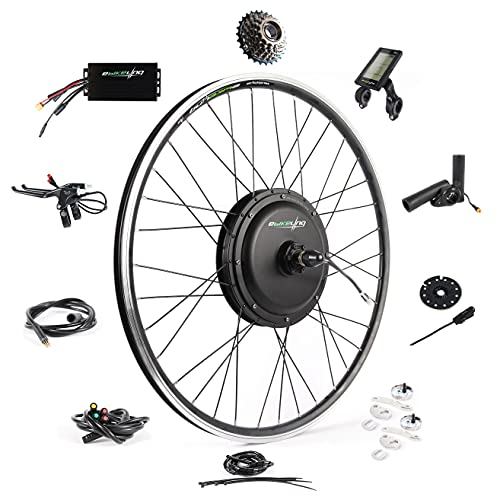 Ebike Conversion Kit 48V 1200W 700C Direct Drive Waterproof Electric Bike Conversion Kit - Ebike Kit - Hub Motor Kit S830 LCD Display (Rear/LCD/Thumb)