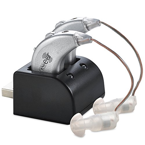 Digital Hearing Amplifiers - Rechargeable BTE Personal Sound Amplifier Pair with USB Dock - Premium...