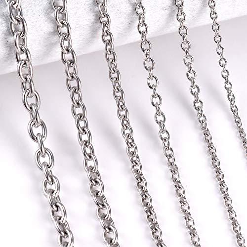 1 Pieza de Acero Inoxidable Cruz O Collar de Cadena para Mujeres Hombres joyería de Bricolaje Collar de Pulsera Fina