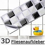 4 Set 25,3 x 5,4 cm Grandora Mosaïque 3D autocollant pour carrelage w5194...
