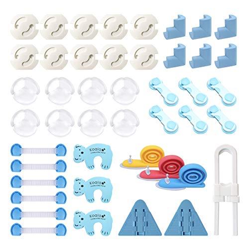 FemKey 45pcs Kits de Seguridad para Bebés, Cubiertas de Seguridad para Enchufes,...