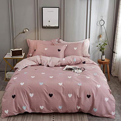LINGs Scandinavian cotton bedding sets, duvet cover bed sheet pillowcase textile,ENZE-025,2.0m