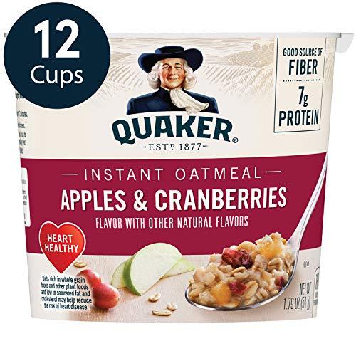Quaker Instant Oatmeal Express Cups Apples amp Cranberries 12 Count