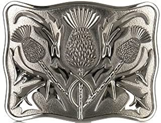 Stunning Scottish Celtic Thistle Kilt Belt Buckle Antique Finish
