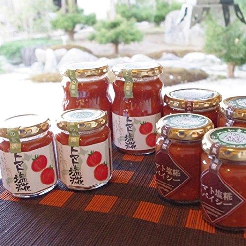 トマト塩糀・スパイシートマト塩糀セット これ1本いつもの料理に加えるだけで、美味しいトマト料理に変身できちゃう万能調味料!!トマト塩糀と島唐辛子の味香りと香辛料でピリッと旨いスパイシートマト塩糀の2種類をセットでお届けします。