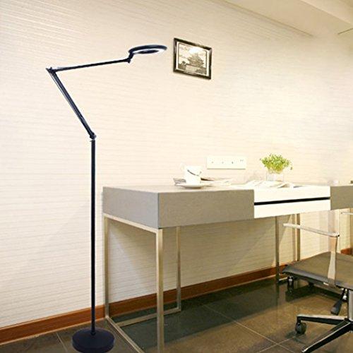 FORWIN Stehleuchte- Moderne LED Schönheit Licht Tattoo Vertikale Stehlampe Schlafzimmer Studie Nachttischlampe Klavier Angeln Lichter Innenbeleuchtung (Farbe : SCHWARZ)