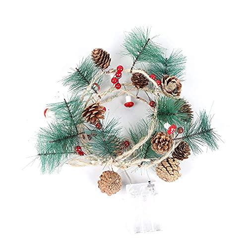 LLLKKK 20 luces LED para Navidad, interior y exterior, vacaciones, Navidad, Año Nuevo, fiestas, decoración de Navidad, jardín, patio, luz decorativa de Navidad (2 m)