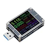 Medidor De Potencia USB, Voltímetro Portátil Amperímetro Cargador Probador De Potencia, Protección De Seguridad Inteligente, Entrada Tipo C/Micro USB/USB