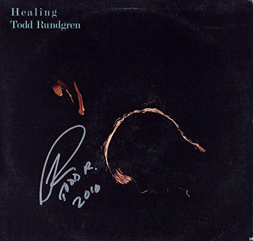Todd Rundgren Autographed Signed Healing Album Cover AFTAL UACC RD COA