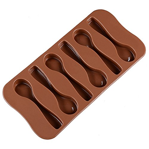 Silicone Spoon Mold, Chocolate Fondant Molds for Happy Birthday Cake Decorations , Chocolate Baking Mould Tool