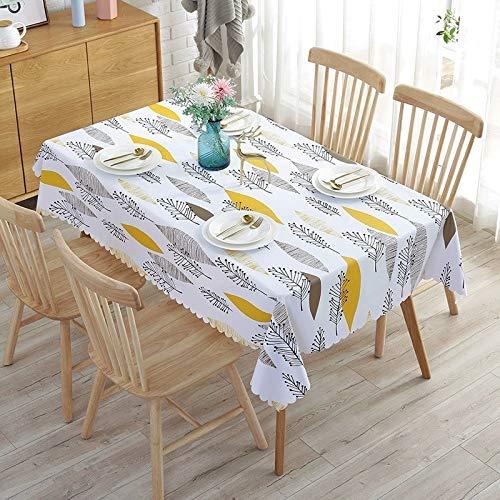 PhantasyIsland.com manteles Redondos para Mesa Redonda, de algodón y Lino, a Prueba de Polvo, para Mesa 100 * 160cm