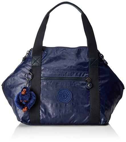 Kipling Damen ART S Handtasche, Blau (Lacquer Indigo), 44x27x18 cm