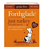 Forthglade 100% Natural Dog Food Grain Free Complementary Wet Dog Food Just 90% Turkey 395g (18 Pack)