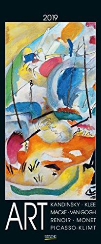 Art 204719 2019: Korsch Kunstkalender mit bekannten Meisterwerken der verschiedenen Epochen. Wandkalender im Hochformat: 28,5 x 69 cm, Foliendeckblatt