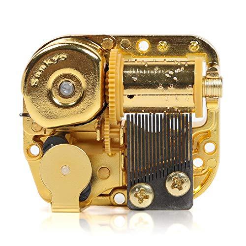 Anastasia Once upom a diciembre Movimiento musical para DIY caja de música – Sankyo Wind up movimiento musical 18 notas chapado en oro mecanismo de reloj para bricolaje caja musical
