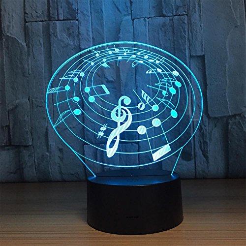 baby Q LED 3D Lampe, Lumières tactiles colorées, lumières visuelles de Gradient acryliques, lumières actionnées par USB