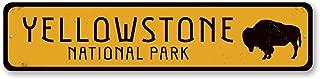 The Lizton Sign Shop Buffalo National Park Sign, Personalized Park Destination Sign, Yellowstone National Park Custom Location Sign - Quality Aluminum ENSA1001724-4 x18 Quality Aluminum Sign