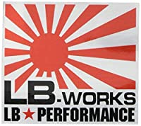 【Liberty Walk(リバティーウォーク)】ステッカー LB-WORKS small Red/Silver ST9-RS