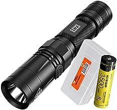 Nitecore EC23 1800 Lumens High Performance LED Flashlight, 1x High Capacity 3500mAh Rechargeable Battery and Lumen Tactical Battery Organizer