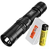 Nitecore EC23 1800 Lumens High Performance LED Flashlight, 1x High Capacity 3500mAh Rechargeable Battery and Lumen Tactical Battery Organizer