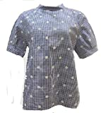 (チャイルドウーマン) CHILD WOMAN 先染ブロード刺繍 ロールカラーブラウス (クロ, F)