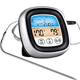 Trayousin Digital Meat Thermometer, Food Thermometer Probe Oven Proof, Instant Read Timer Alarm