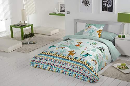 couleur unique Pack cama 105 Unique Rafitextil Mani Couvre-lit boutis indigo