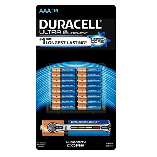 Duracell Ultra Advanced AAA Battery with Power Check Value Pack
