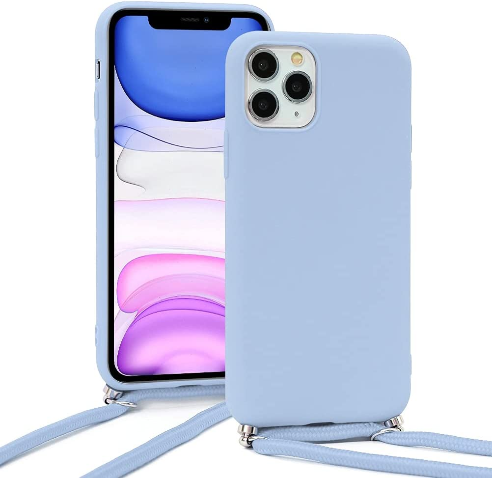 Yoedge Crossbody Case for Xiaomi Mi Note 10 Lite (4G), Neck Cord Phone Case with Adjustable Lanyard Strap, Silicone Shock-Proof Cover Compatible with Xiaomi Mi Note 10 Lite 4G [6.47