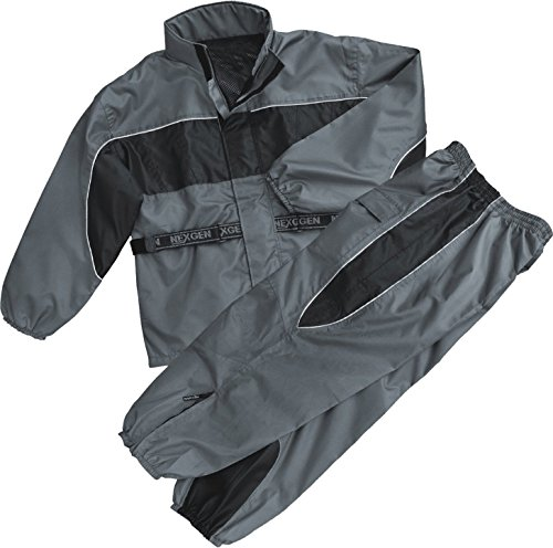 NexGen Men's Rain Suit (Black/Grey, 7X-Large)