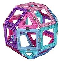 [ マグフォーマー ] おもちゃ 30ピースセット 知育玩具 キッズ アメリカ 子供 面白い Magformers 空間認識 展開図 (ピンク/パープル/ライトブルー) [並行輸入品]
