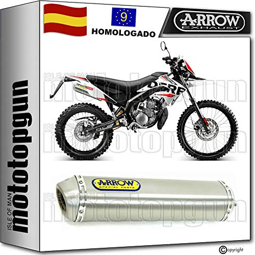 ARROW TUBO DE ESCAPE HOMOLOGADO MINI-THUNDER EN TITANIO COMPATIBLE CON DERBI SENDA 50 SM XTREME 2009 09 2010 10 2011 11 2012 12 2013 13 2014 14 2015 15 52604SU