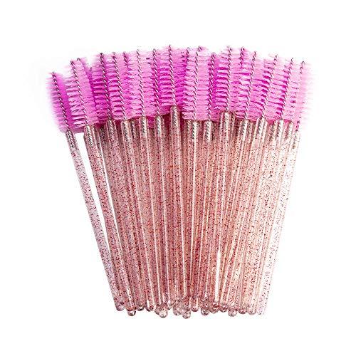 Bonne Qualité Jetable 200 Pcs/Pack Cristal Cils Maquillage Brosse Diamant Poignée Mascara Baguettes Cils Extension Outil-Nouveau rose