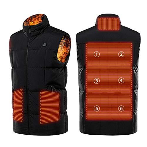 Beheizte Weste für Männer und Frauen, elektrische beheizte Jacke USB-Ladekörper-Wärmer-Gilet mit 9 Heizzonen und 3-stufiger Temperaturregelung für Outdoor-Jagd Camping Wandern