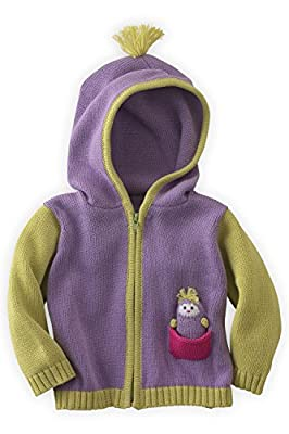 Joobles Organic Baby Cardigan Sweater - ICY The Penguin (12-18 Mos) Purple