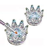 Nail Art Dappen, Platos Vasos de Cristal de Arte de Uñas, Copa de uñas para Acrílico en polvo líquido, Tazón de cristal para uñas, Crown Nails Plato de vidrio 2 piezas Láser de colores