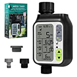 Bearbro Programmable Water Timer,Sprinkler Timer Digital Programmable,Sprinkler Timer with Rain Delay/Child Lock/Auto & Manual Watering Mode/IP65 Waterproof,Irrigation Timer for Garden